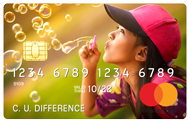 credit card with image of girl