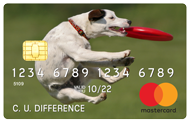 credit card with image of dog