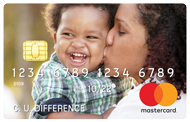 credit card with image of mom and son