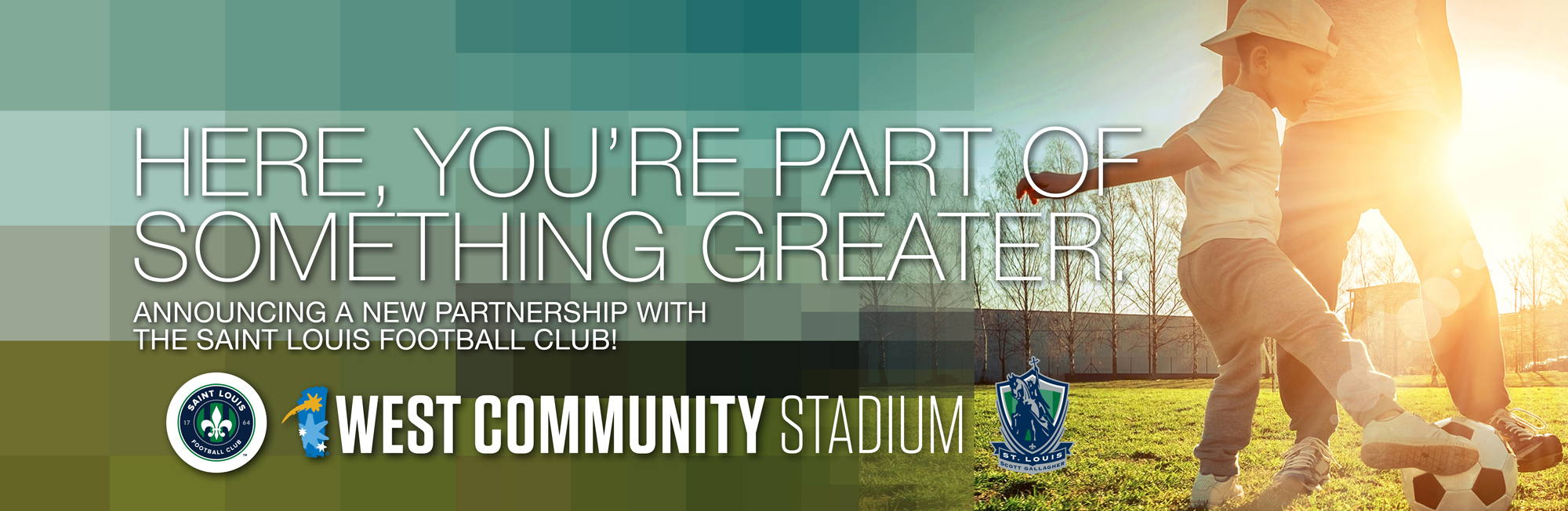 "West Community Credit Union is excited to announce a partnership with the Saint Louis FC and be the ""Stadium Naming Rights"" club partner. Click to learn more"