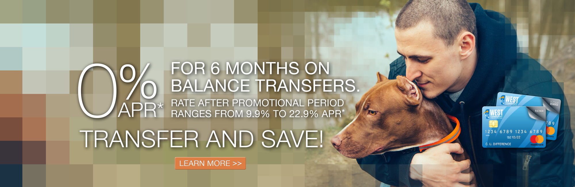 Credit Card Balance Transfer. Get 0% APR on Balance Transfers. Rate after promotional period ranges from 9.9% to 22.9% APR.
