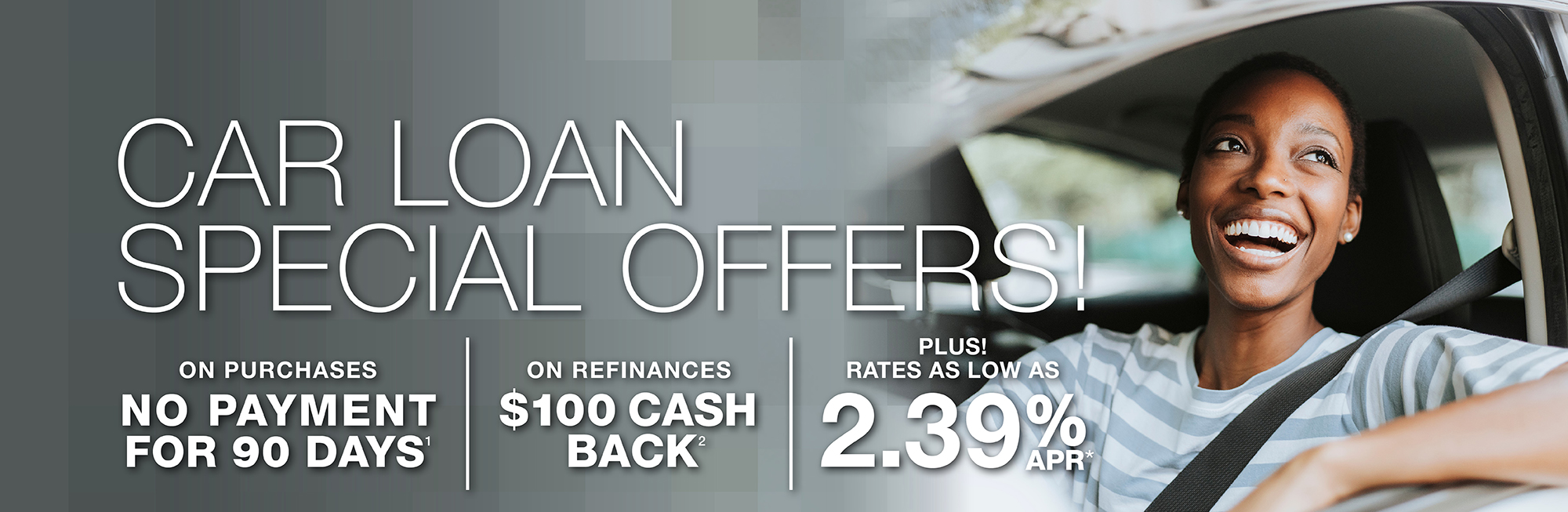 Car Loan special offers! Find out how you can save!